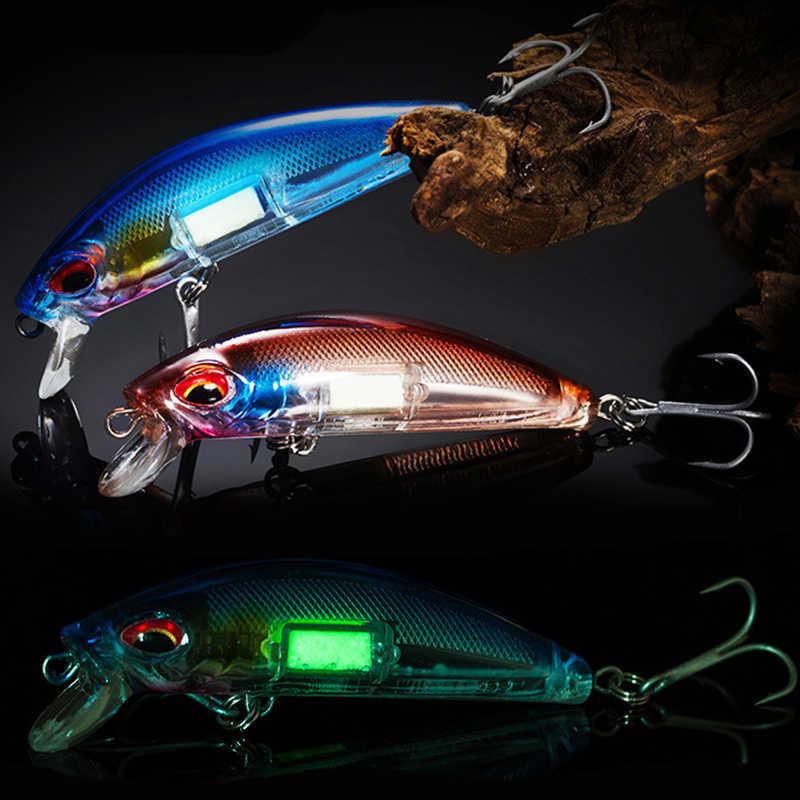 Luminous Minnow Fishing Lures 7cm 11g Sinking Wobblers Artificial Hard Bait New