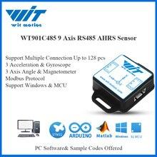 WitMotion WT901C485 wielu podłączonych do 9 osi RS485 czujnik Modbus kąt + przyspieszenie + Gyro + magnetometr inklinometr na PC