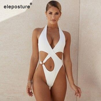 2021 Sexy Hollow Out Swimwear Women One Piece Swimsuit Female Halter Push Up Monokini Brazilian Bathing Suits Summer Beach Wear