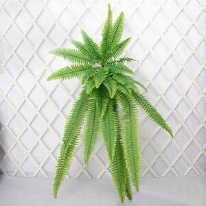 Image 5 - 140 سنتيمتر نبات معلق استوائي كبير الاصطناعي السرخس العشب باقة البلاستيك أوراق خضراء جدار فرع شجرة وهمية للديكور المنزل