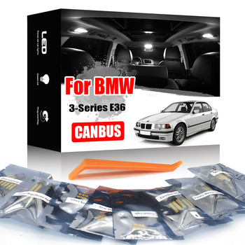 KAMMURI White Canbus For BMW 3 series E36 M3 Hatch Estate Sedan Coupe Cabrio LED interior Footwells License plate light Kit image