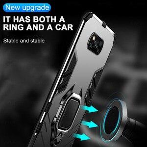 Image 2 - שריון עמיד הלם מקרה עבור Xiaomi Poco X3 פרו Pocox3 NFC Poko Pocco Pocophone X 3 Stand רכב מגנטי טבעת מחזיק קשה כיסוי Coque