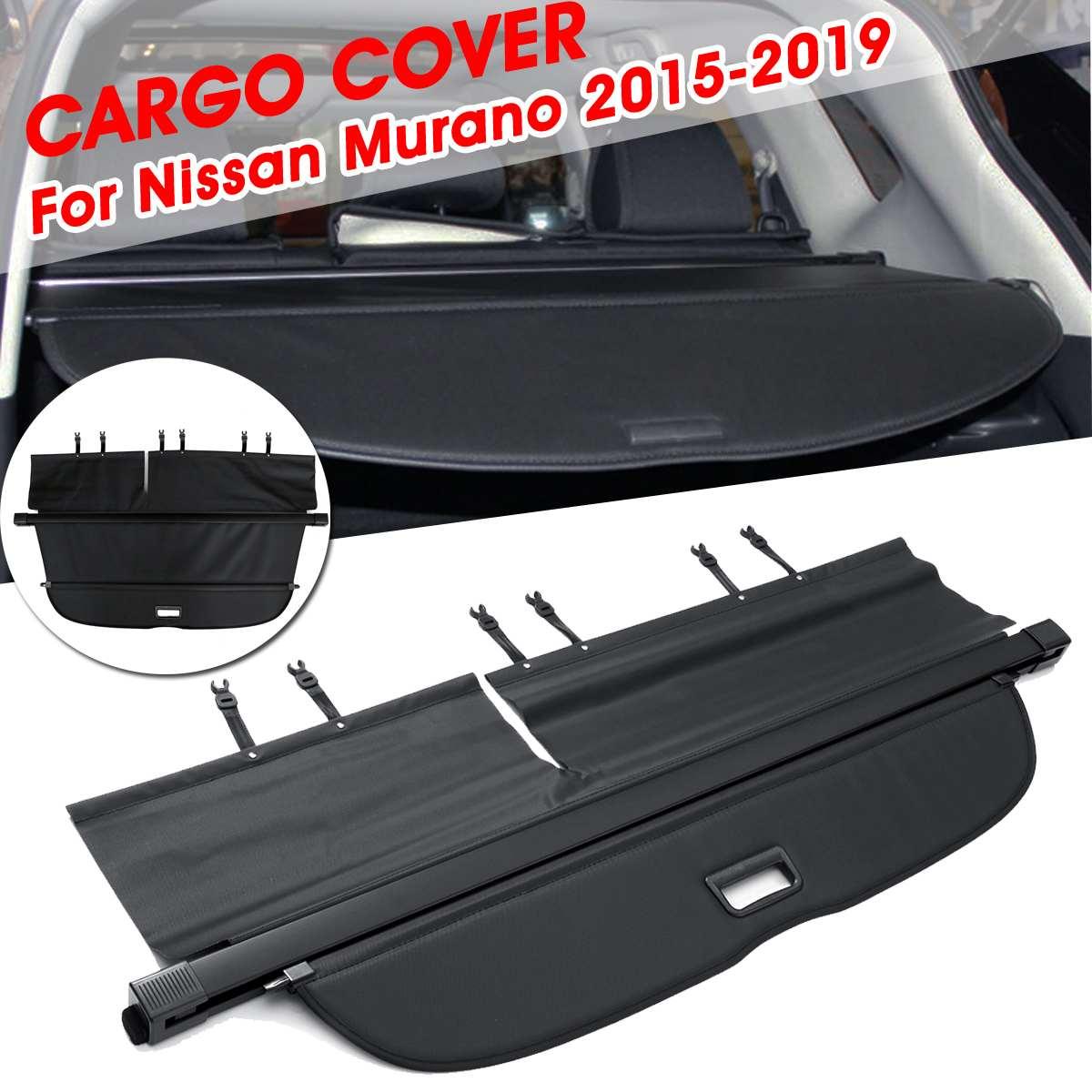 Audew Black Automobile Car Trunk Cargo Shield Rear Shade Security Shield Car Interior Cargo Cover For Nissan Murano 2015-2019