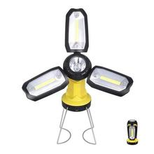 New COB Flashlight Deformation Working Inspection Torches Car Maintenance Lanterns Outdoor Camping Lamp with Hook USB Charging