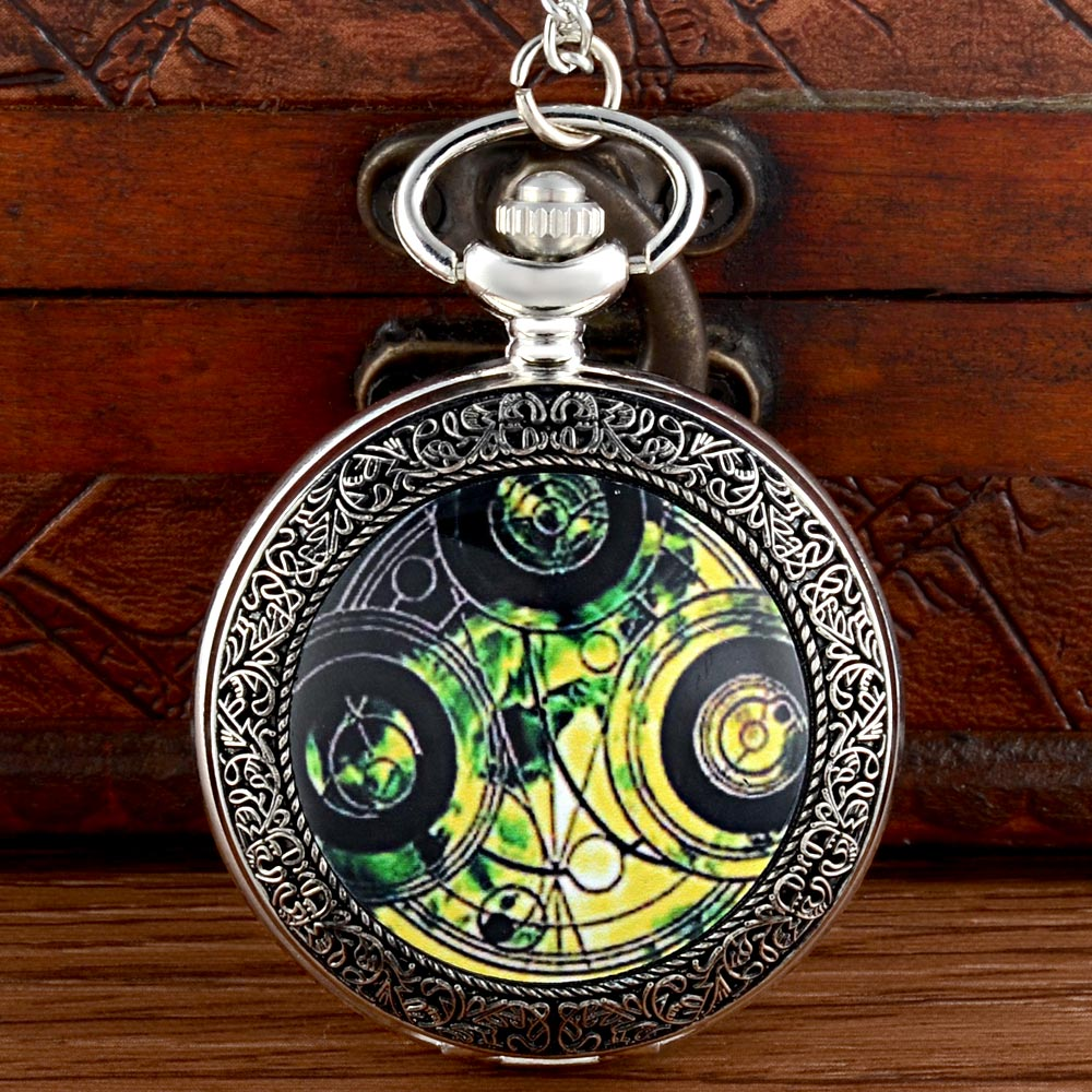 New Arrivals Doctor Who Quartz Pocket Watch Chains Antique Men Women  Pendant Necklace Clock Gift