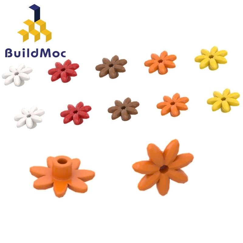 BuildMOC  Seven-petal Flower 95832 For Building Blocks Parts DIY LOGO Educational Creative Gift Toys