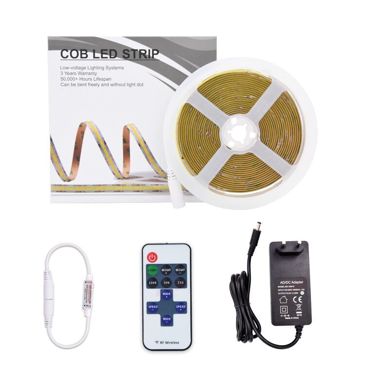 China Flexible Smd White 5M Led Light Strip With Adapter And Remote Bright Led Strip