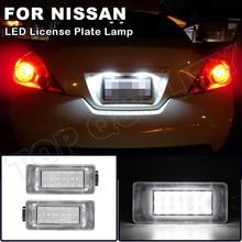 2Pcs LED License Plate Light Lamps For Nissan Serena C27 2016  Altima 2019 2020 Suzuki Dacia OEM#:265108990E Number Plate Lamp