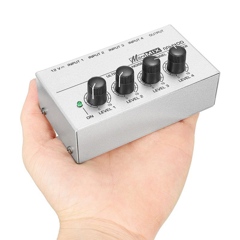 4 kanałowy mikser audio dla rodziny KTV przenośne Mini Micro niski poziom hałasu Karaoke mikser Stereo