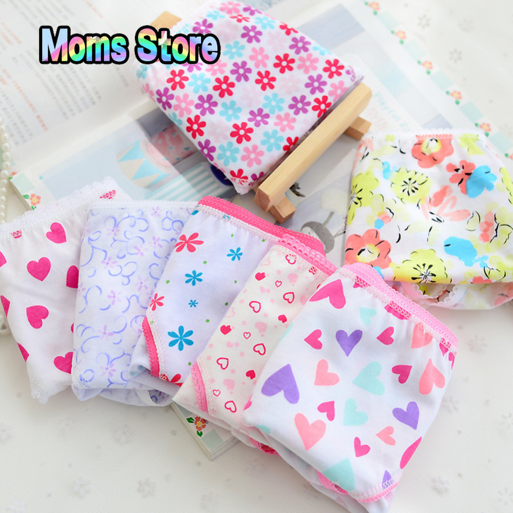 6pcs/pack 2019 Fashion New Baby Girls Kids Underwear Cotton Panties For Girls Kids Short Briefs Children Underpants
