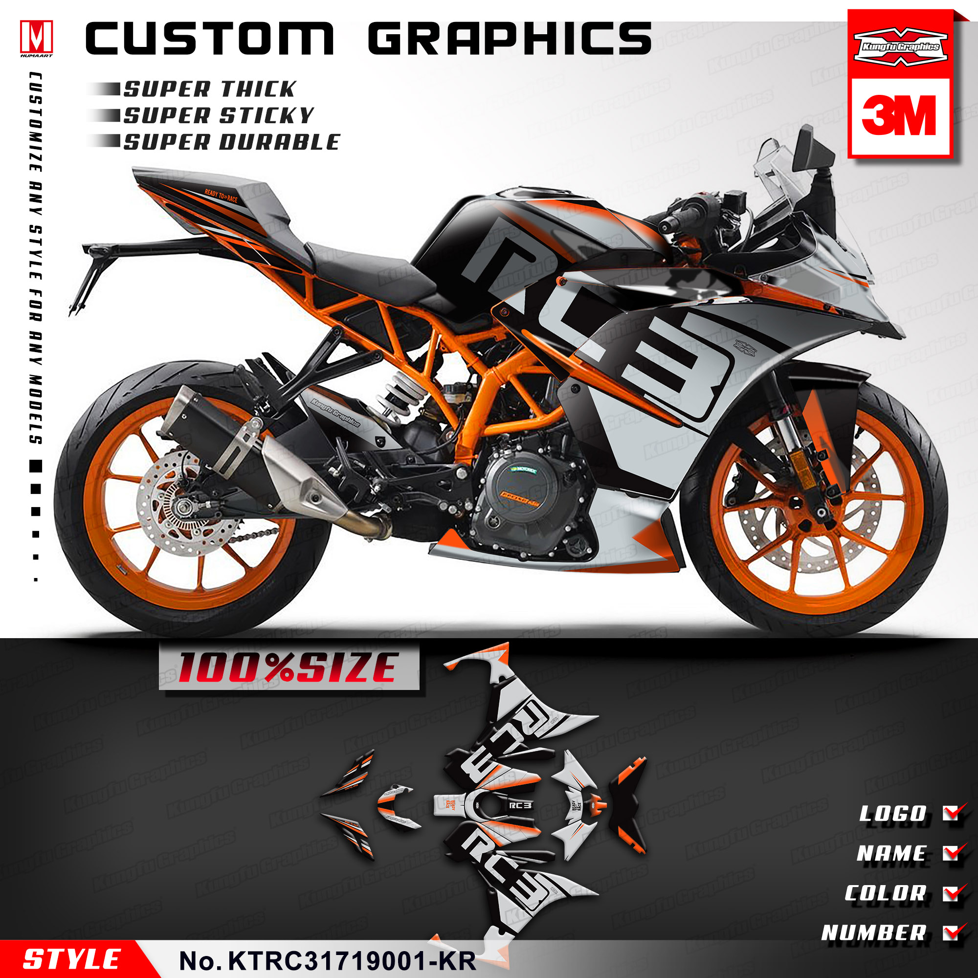 CUSTOM 2 COLOR NAME MOTORCYLE NUMBER PLATE RACING DECALS BIKE GRAPHIC STICKERS