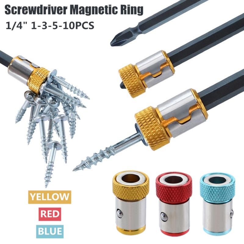 6.35mm Magnetizer Ring Alloy Steel Screwdriver Removable Bit Magnetizer Electric Screwdriver Bits Accessories Screw Pick Up Tool