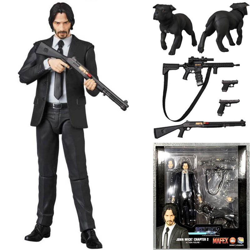 15cm New Type Mafex 085 JOHN WICK Chapter 2 Action Figure Model Toys Doll For Gift
