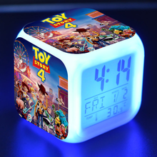 История игрушек 4 Аниме Фигурка модель светодиодный Будильник Вуди Базз светильник год красочный флэш сенсорный светильник Мультяшные Фигурки игрушки Рождество