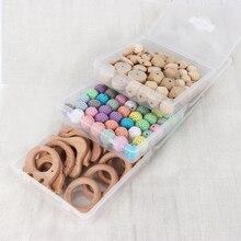 TYRY.HU Baby Teether Beads DIY Teething Wooden Rings Pacifier Holder Accessories Wood Bead