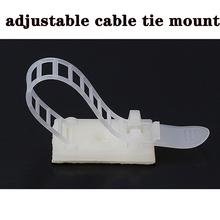 Cable-Clips for Wire-Tie Adjustable White-Color 10pcs 18--25-Clamp