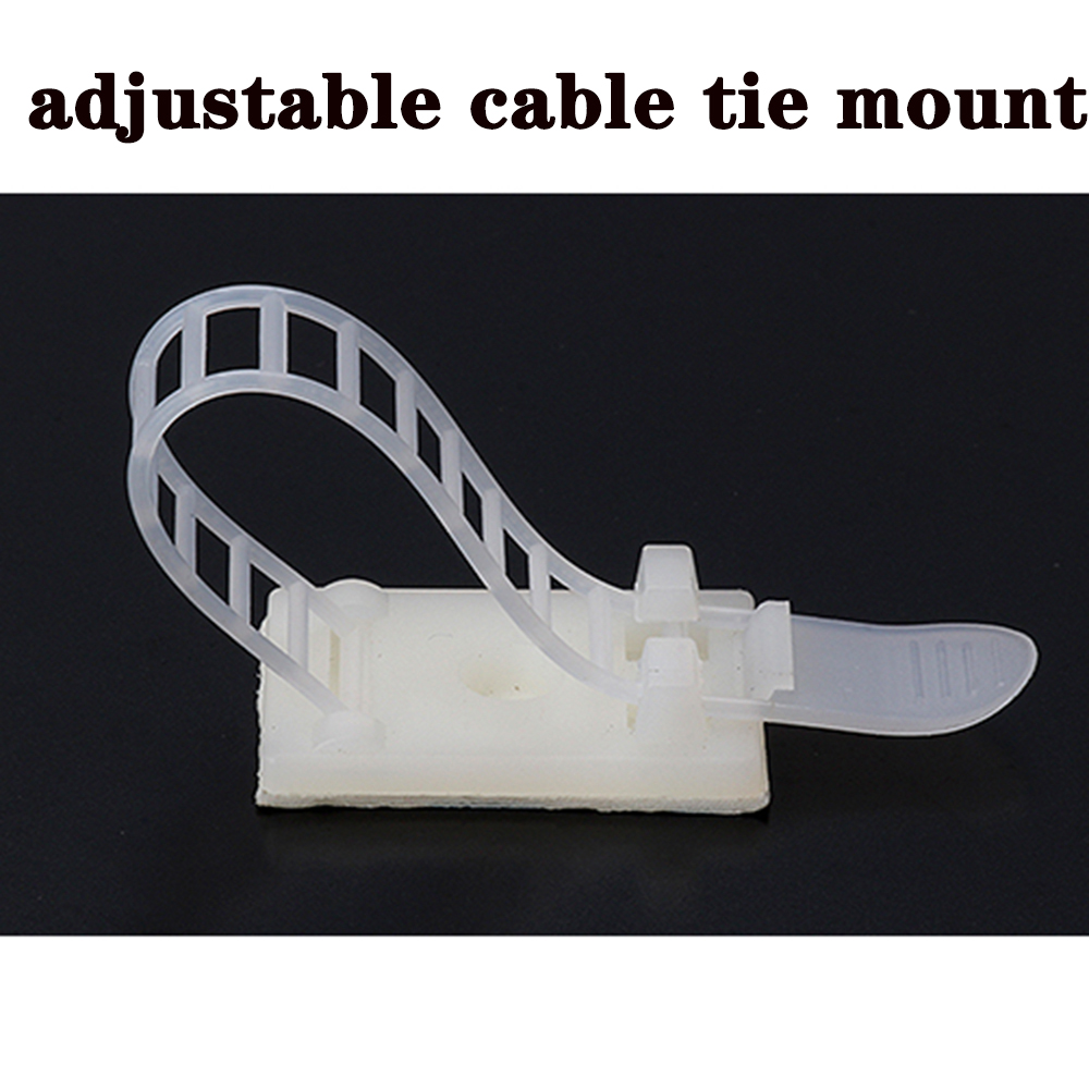 Cable Tie Mounts 10pcs Cable Clips 18*25 Clamp For Wire Tie Cable Mount Adjustable Cable Tie Fix Holder Clips White Color