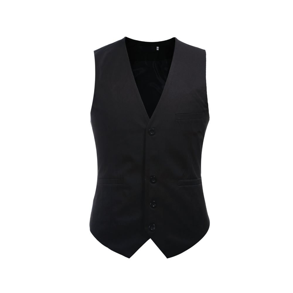 Men's  Business Formal Waistcoat  For Wedding Party  Suit Vest Single-Breasted Plaid Vest Casual Euro Size Waistcoat  Masculine