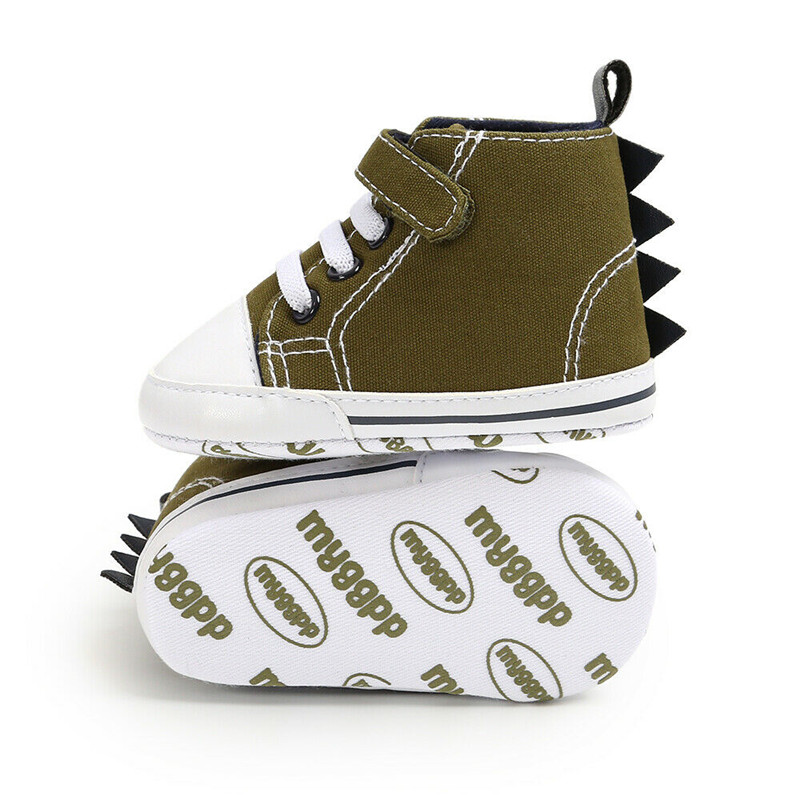 2019 Newborn Baby Boys Girls Pre-Walker Soft Sole Pram Shoes Canvas Sneakers Trainers Fashion Kids Casual Toddler Boots