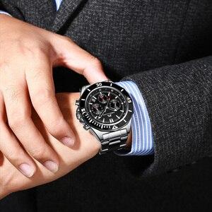 Image 5 - MEGALITH Männer Voller Stahl Uhr Sport Wasserdichte Uhr Männer Leucht Chronograph Uhren Marke Luxus Uhr Relogio Masculino 8206