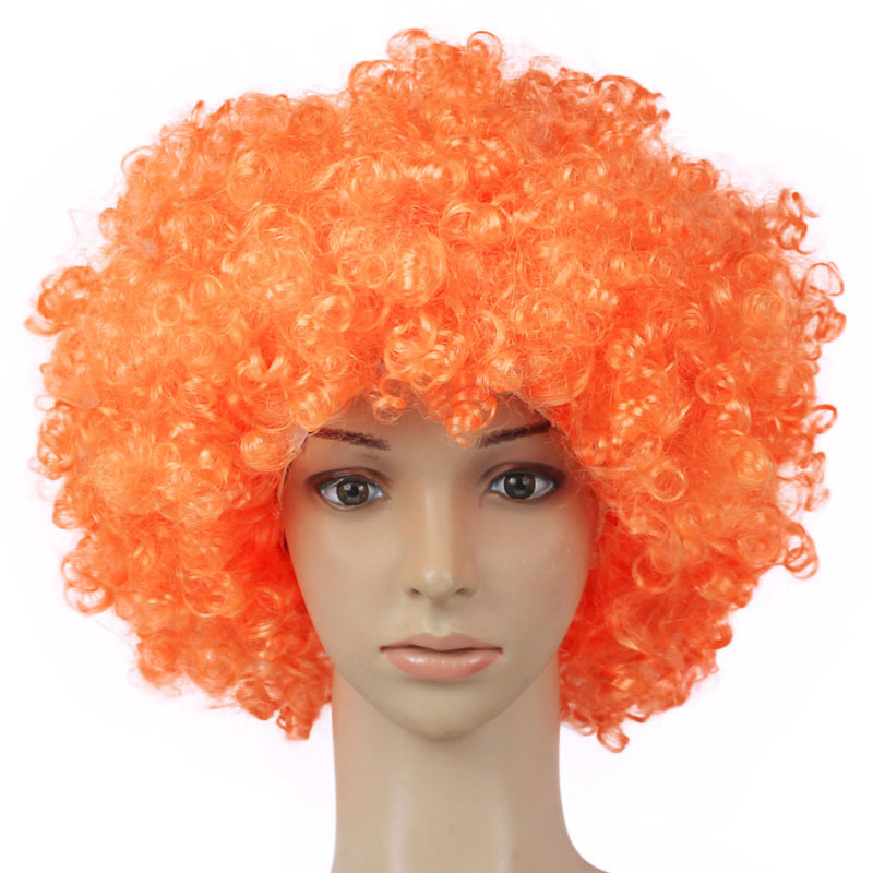 High Quality Colorful Halloween Christmas Headdress Clown Dress Up Football Fan Wig Rainbow Wig Dressing Props NCM99