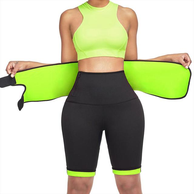 Sweat Slimming Neoprene Pants Body Shapers For Weight Loss Sauna Workouts Fajas Shapewear With Belt