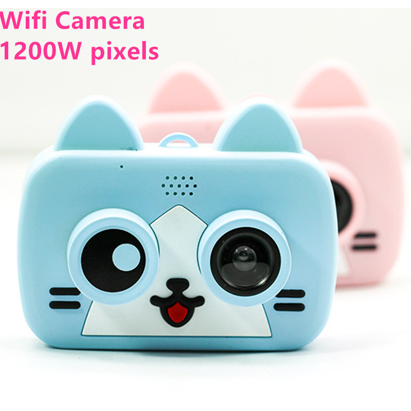 Wifi Camera Kids Toys HD Digital Cameras Projection Video 1200W Pixels Photo Selfie 1080P Children Boys Girls Birthdays Gifts