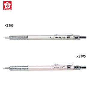 Image 4 - Sakura Mechanical Pencils 0.3mm 0.5mm Anti break Core Professional Drawing Pencils Metal Holder XS 303 XS 305
