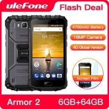 Ulefone Armor 2 телефон смартфон телефоны смартфоны Водонепроницаемый IP68 Мобильный телефон 5.0 дюймов fhd MTK6757 Octa core Android 7.0 6 ГБ Оперативная память 64 ГБ Встроенная память Основная камера 16MP 4G Смартфон