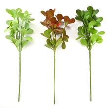 Simulation Tea Leaves Branch Green Plant Wedding Home Garden Flower Wall Decor Necessary Household Decoration Supplies