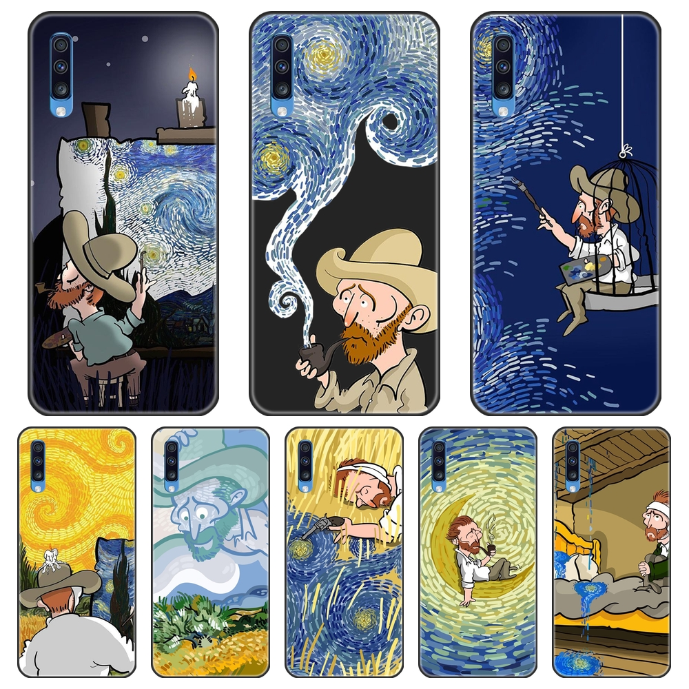 TPU Silicone Phone Case For Samsung Galaxy A10 A20 A30 A40 Van Gogh Starry Night Art Soft Back Cover For Samsung A50 A60 A70 A80 image