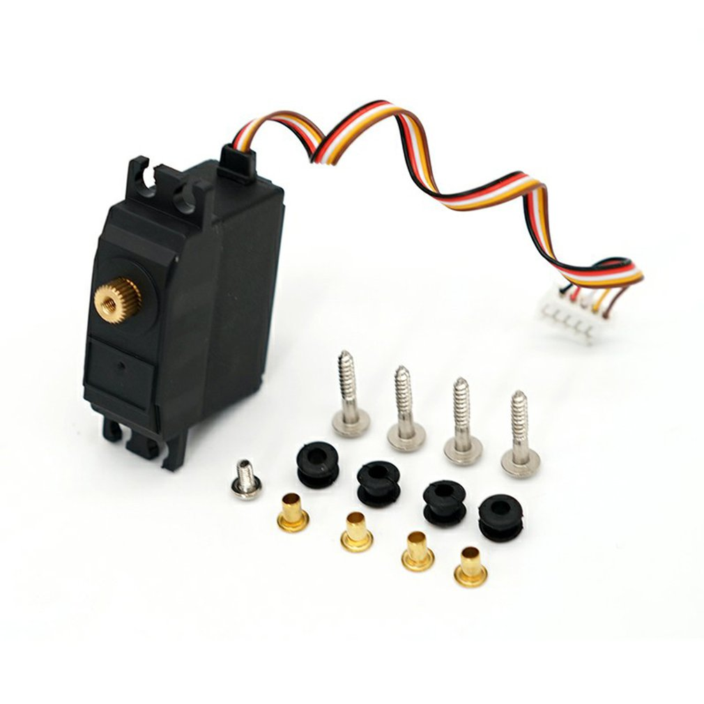 Upgraded Durable Use 25g <font><b>Metal</b></font> Gear Servos for <font><b>Wltoys</b></font> <font><b>12428</b></font> 12423 RC Car Steering Gear Model Parts Supplies image