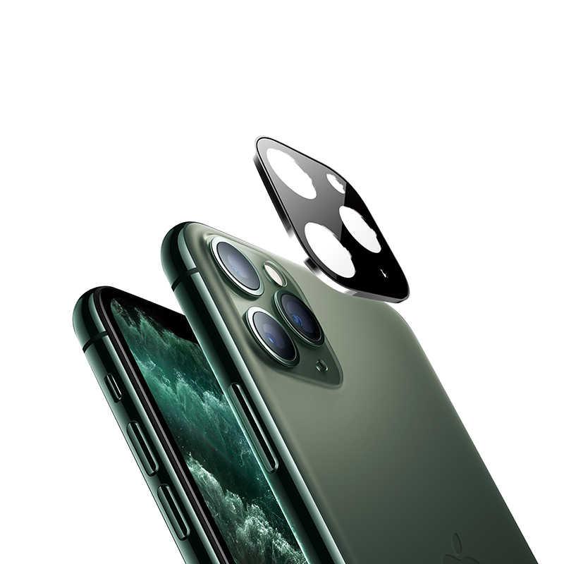 Titane alliage métal arrière caméra anneau d'objectif verre trempé protecteur d'écran pour iPhone 11 Pro Max couverture arrière étui de Film de protection