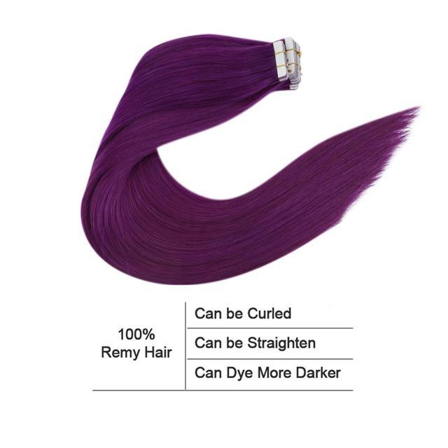Человеческие волосы для наращивания лента в фиолетовой машине