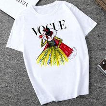 Mujer New Vogue Princess Snow White T shirt Women Harajuku Cartoon Print Tshirt Casual Top