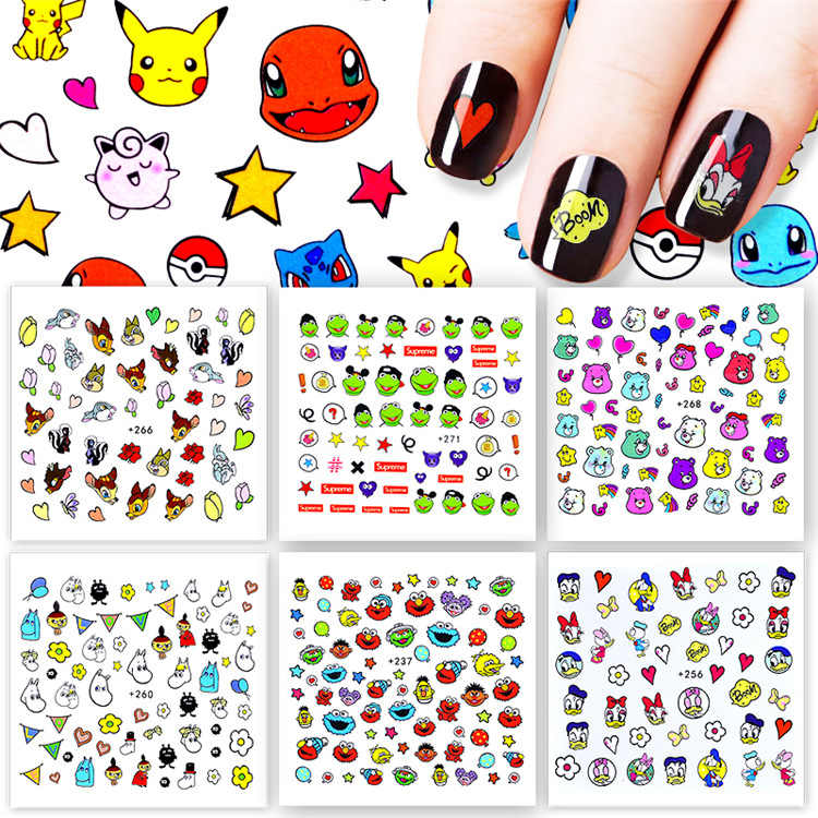 1 Pcs Pokemon Cartoon Nail Stone AB Color Rhinestone Irregular Beads Manicure For Nails Art Decorations Crystals