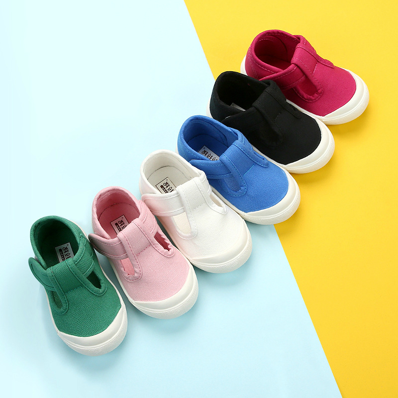 2020 New Spring Summer Toddler Canvas Shoes Girl's Shallow Mouth Shoes Children Cloth Shoes For Boy 1-6 Years Infant White