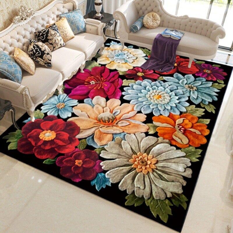 Petits tapis de fleur pour la maison tapis de salon pour le salon chambre à coucher tapis pour les chambres d'enfants grand tapis tapis de salon