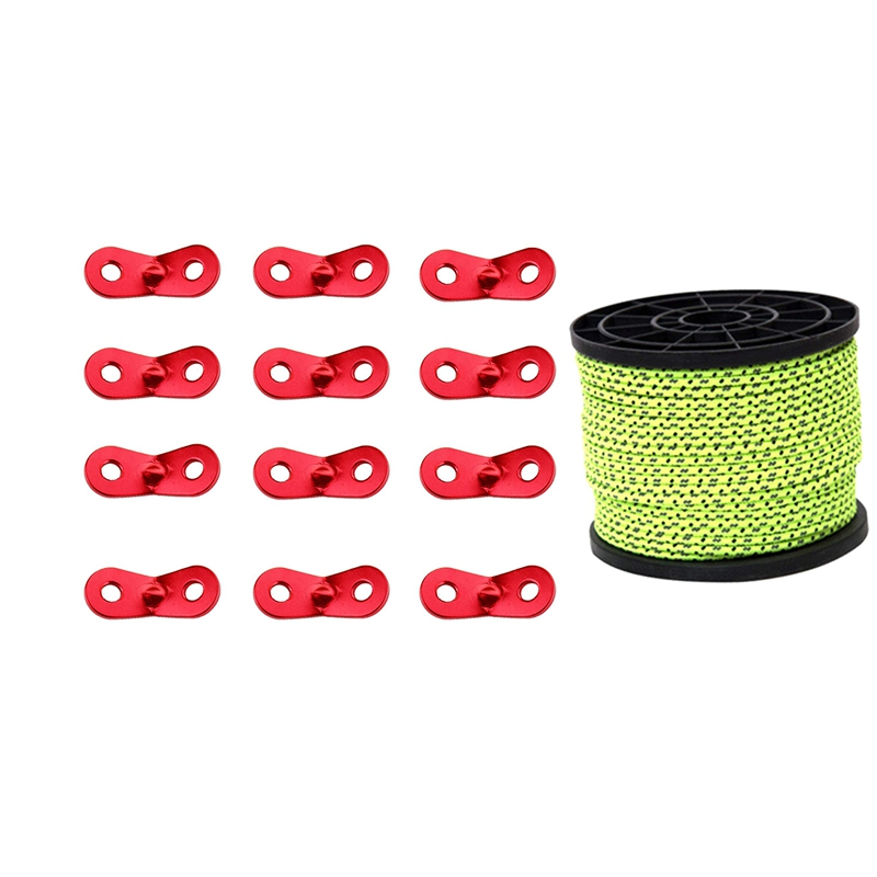 4mm Glow in the Dark Reflective Guyline Tent Rope Guy Line Camping Cord Paracord