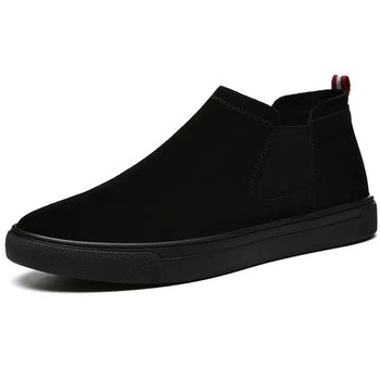 Spring Summer Men Shoes Suede Leather Casual Shoes Men Sneakers Slip on Men Loafers High