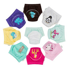 1 Pc New Cute Reusable Potty Training Pants For Baby Toilet Trainers Waterproof Cotton Kids Children Cloth Panties Diaper Nappy