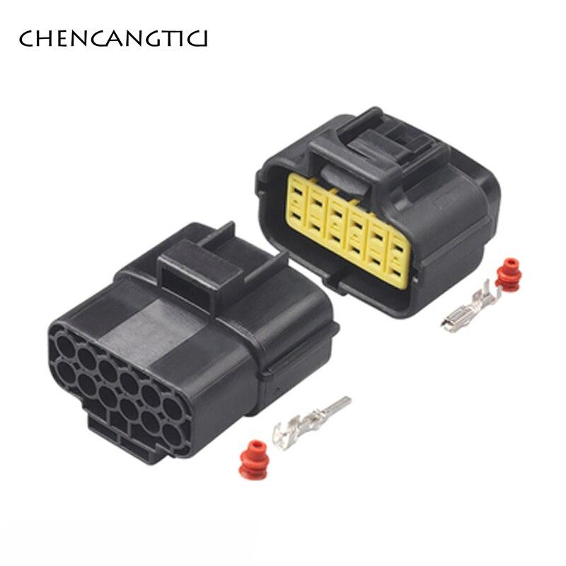 2 set di 12 Spille modo Maschio Femmina AMP Denso Automotive Connettore del Sensore Impermeabile Gear-shift Connettore del Sensore 174661-2 174663-2 368537-1