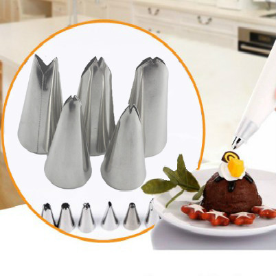 Eco-Friendly Cookie Stainless Steel Rose Pastry Fondant Cream Birthday Cake Decorating Flower Baking Icing Piping Tool Nozzle
