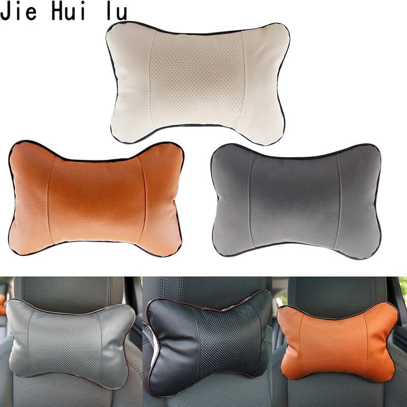 1pc PVC Leather Breathable Mesh Auto Car Neck Rest Headrest Cushion Pillow