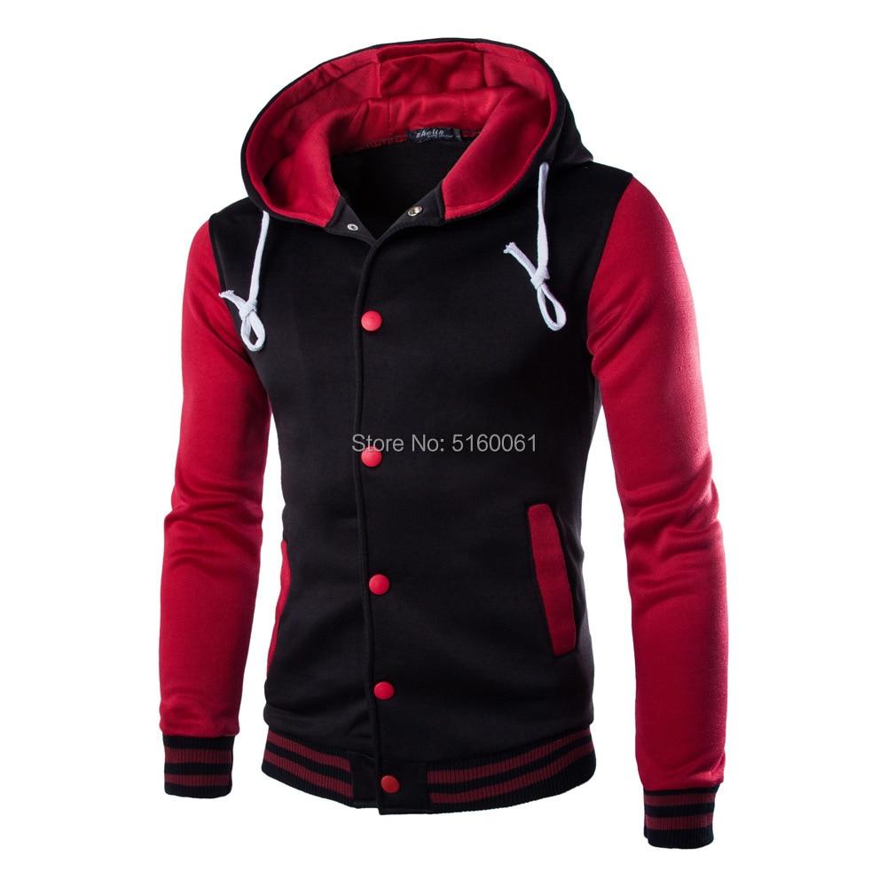 2019 Autumn Fashion Hoodies College Varsity Coats Button Men's Sweatshirts Long Sleeve Brand Hoodie
