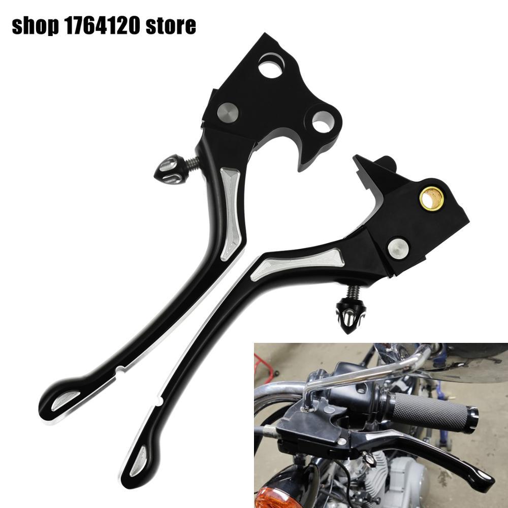 Black CNC Brake Clutch Handle Lever Regulator For Harley Sportster XL883 XL1200