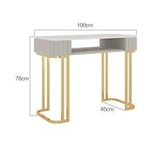 100cm Customizable European Style Manicure Table Modern Minimalist Light Luxury Multifunctional 2-layer Marble Manicure Tables