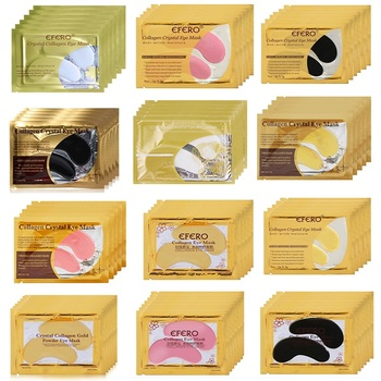10pcs=5pair Black Collagen Eye Mask Crystal Eyelid Patch Anti Wrinkle Moisture Under Dark Circle Remover Pad Face Masks