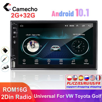 Camecho 2 Din Android Car Radio GPS Multimedia Player Car Stereo Universal for VW Toyota Polo Nissan Golf Passat b6 b7 Autoradio image