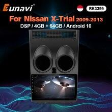 Lecteur multimédia de voiture Eunavi 2 Din Android 10 pour Nissan Qashqai X-TRIAL 2008-2015 4G 64G 8 cœurs WIFI GPS Radio stéréo sans DVD